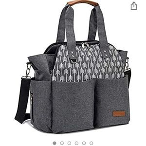 Lekebaby Large Diaper Tote Bag